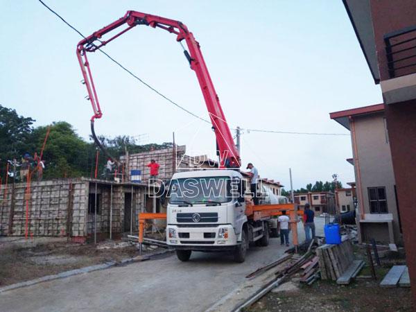 25m boom pumping machine