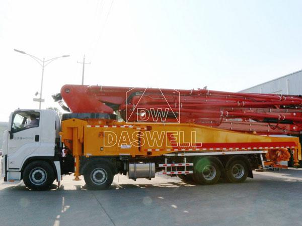 58m concrete boom truck machine