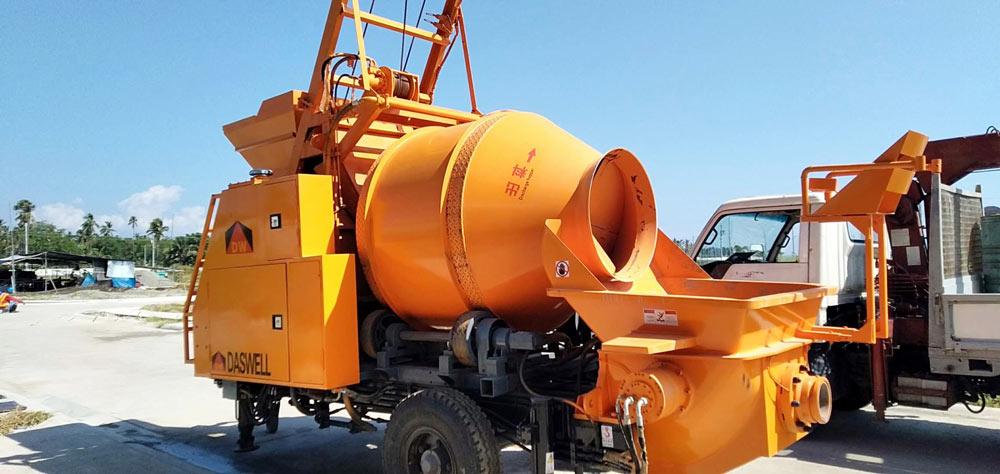 DHBT40 concrete mixer with pump