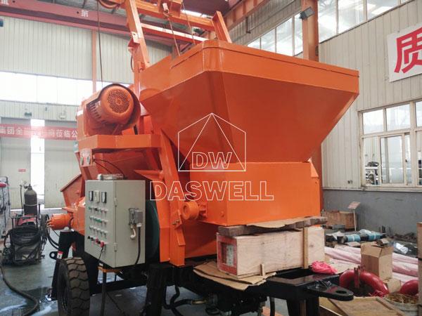 HBT30 concrete mixer with pump