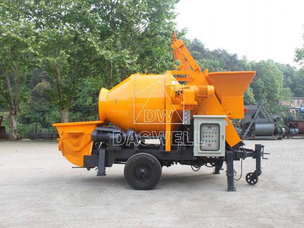 HBT40 small concrete mixer pump