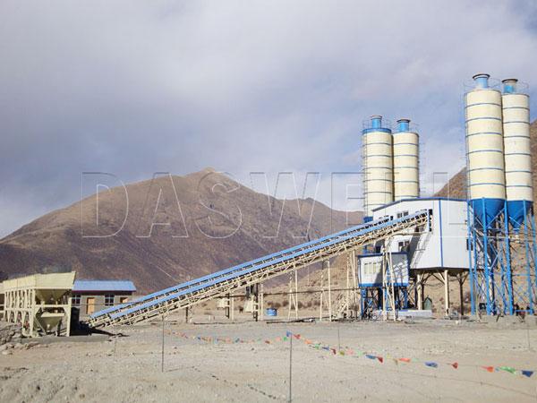 HZS120 stationary concrete plant