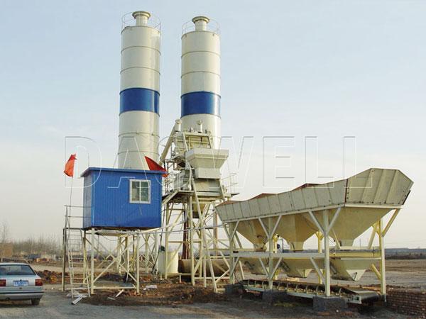 HZS35 ready mix concrete plant