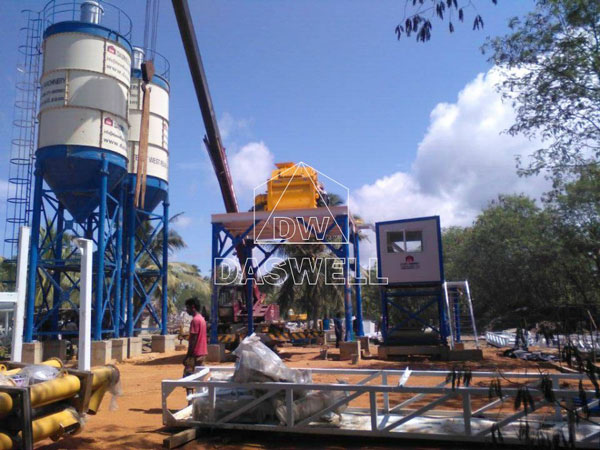 HZS60 plant work in sri lanka