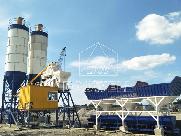 HZS75 concrete mix plant