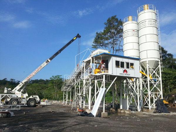 HZS90 ready mix concrete plant