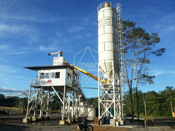 HZS90 stationary concrete batching plant