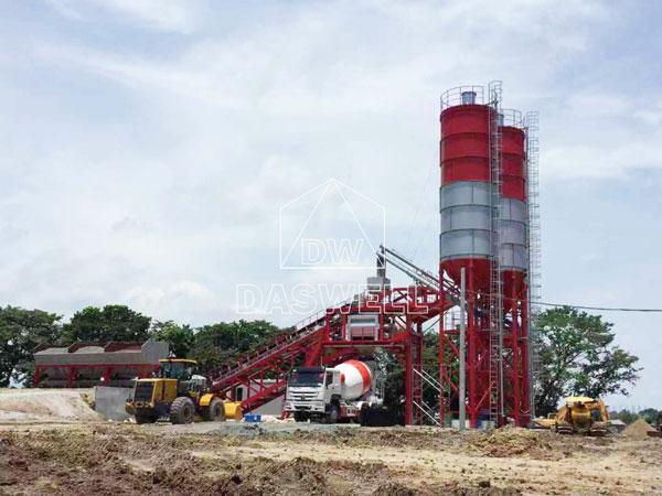YHZS100 mobile batch plant