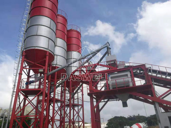 YHZS100 mobile concrete batching plant for sale