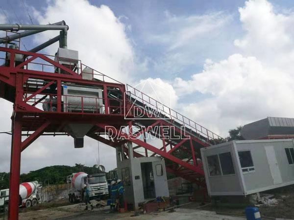 YHZS100 mobile concrete mix plant