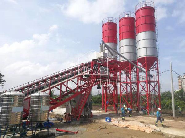 YHZS100 mobile type plant