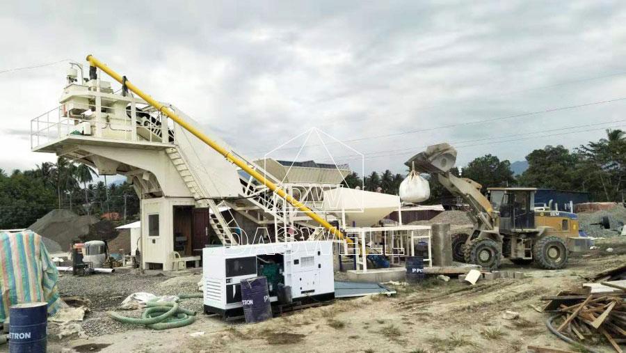YHZS25 mobile concrete batch plants