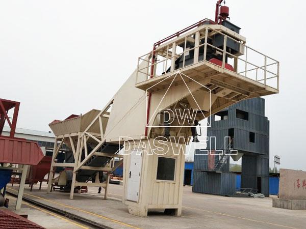 YHZS50 small concrete batching plant