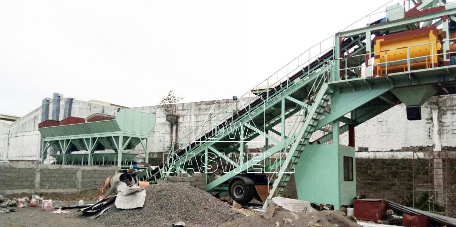 YHZS75 small concrete batching plant