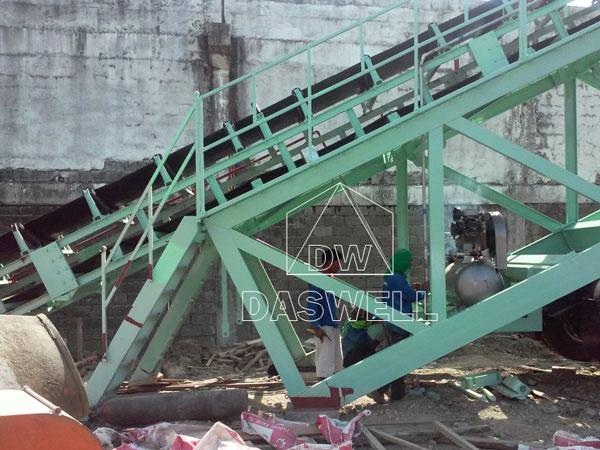 belt conveyor for small concrete batching plant