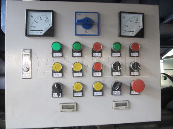 control cpanel of concrete pump for trailer