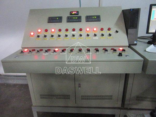 control cpanel of hollow block machine