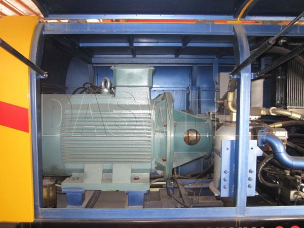 driven motor concrete trailer pump