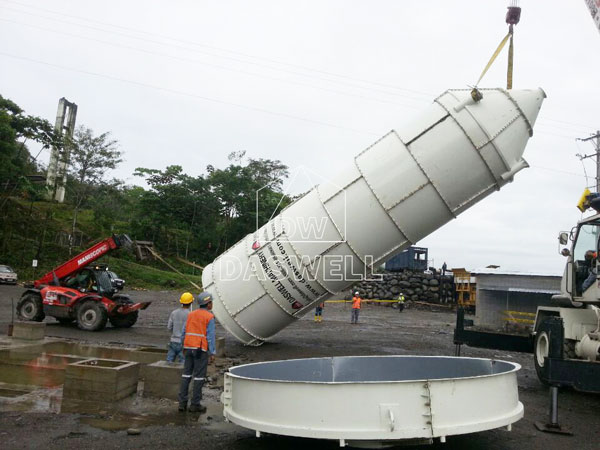 install daswell cement silo