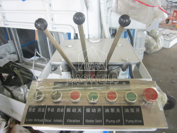 operating lever of mobile brick machine
