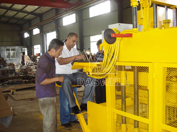 our customers visit production factory