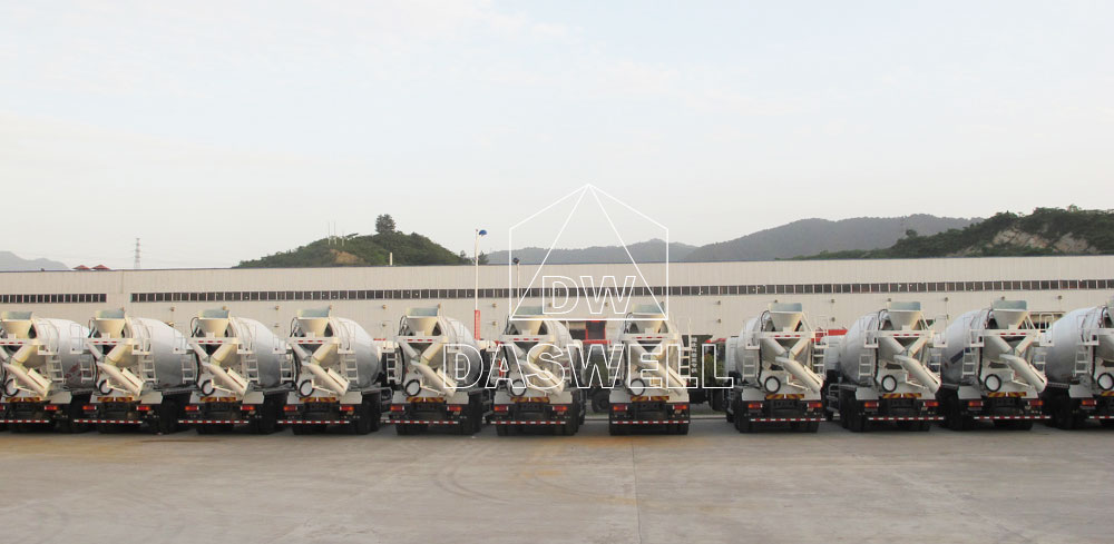 mixing truck production factory