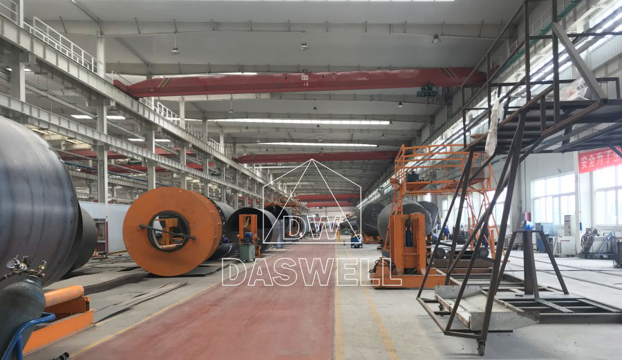 production factory of concrete mixer truck