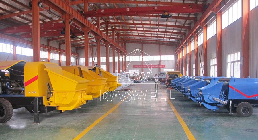 production factory of trailer pump machine