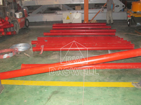 the pipelines of trailer pump
