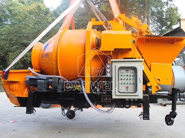 transport concrete mixing pump machine