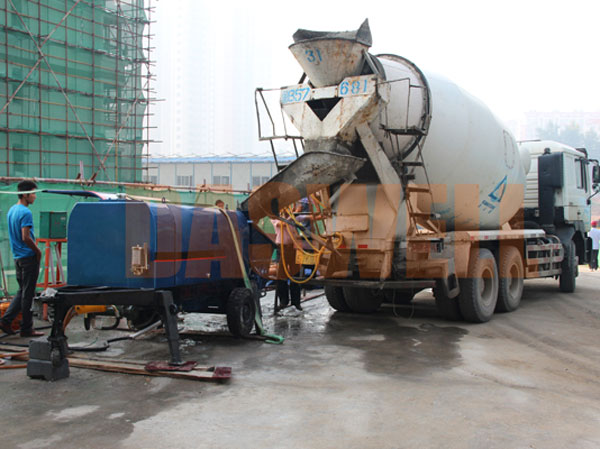 use of the small concrete pump