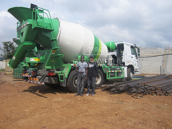 wide use of DW-8 small concrete truck for sale