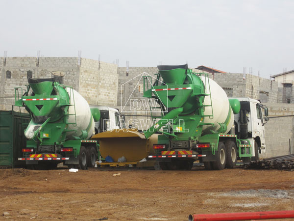 wild application of DW-8 small concrete mixer truck