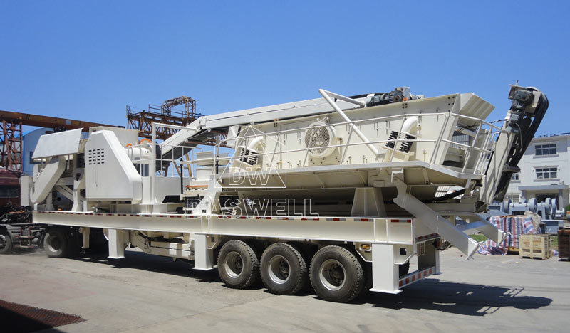 Daswell mobile type crushing and screening plant