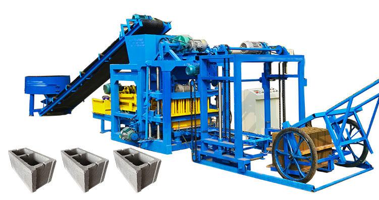 QT8-15 fully automatic brick production plant