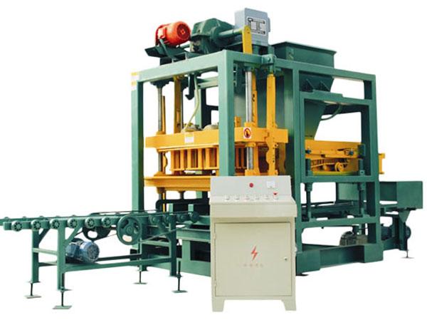 QTJ4-25 semi automatic brick plant