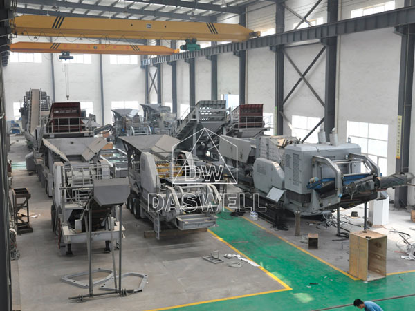 crusher mobile plant in producing workshop