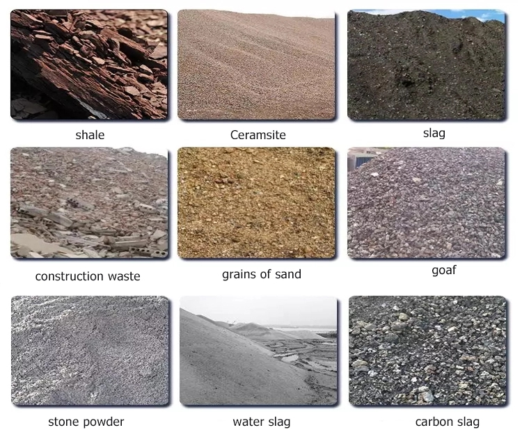 raw materials of automatic brick plant