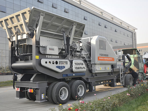 tyred type mobile crusher plant