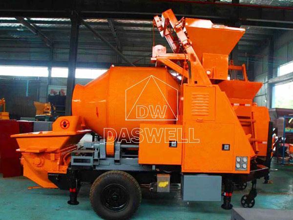 DHBT40 portable concrete mixer and pump