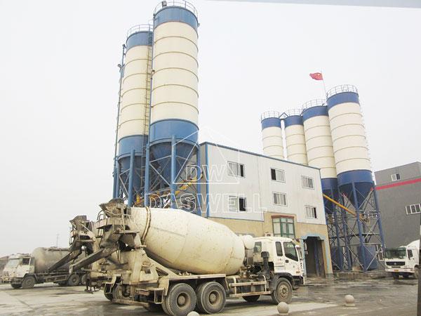 HZS180 concrete mixing plant for sale
