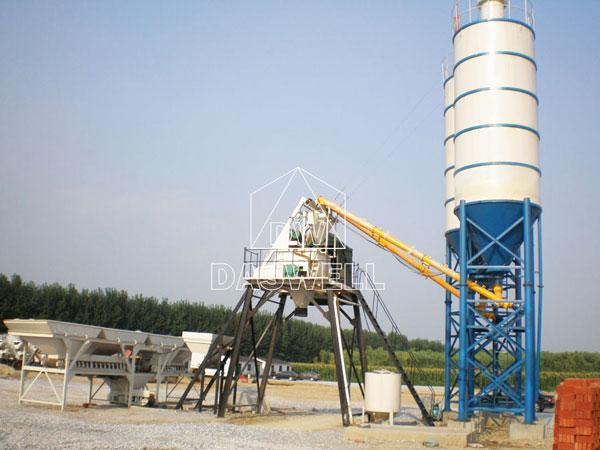 HZS50 plant concrete