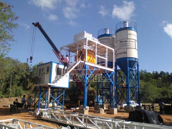 HZS60 concrete mix plant machine