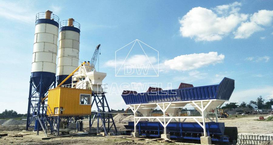 HZS75 concrete production plant