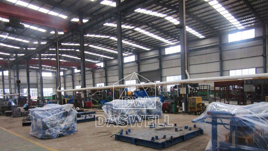 concrete block machine producing factory