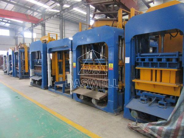 concrete block machine production factory