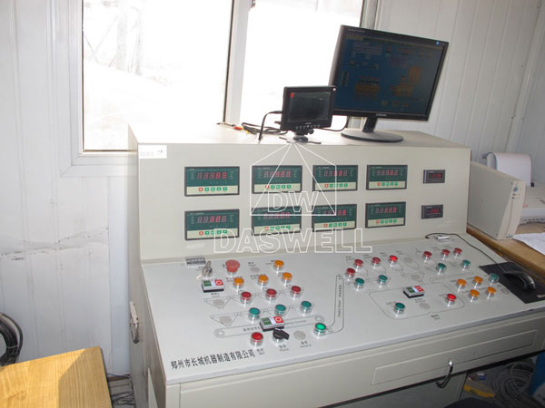 control system of Daswell batch mixing plant