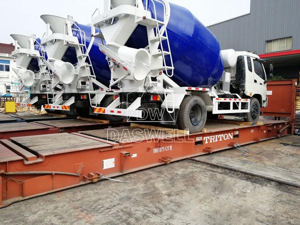 DW-6 ready mix concrete mixer truck
