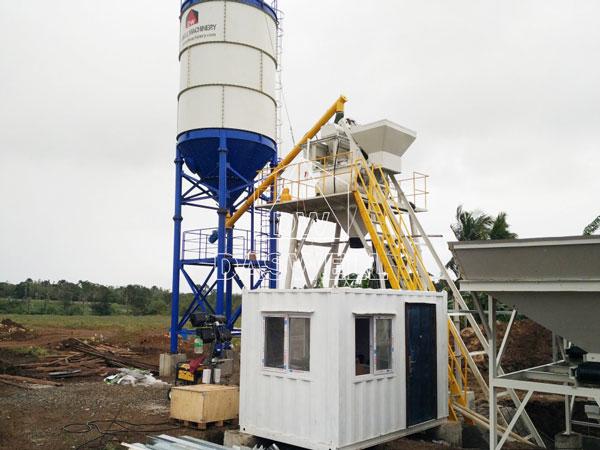HZS25 mini concrete batching plant