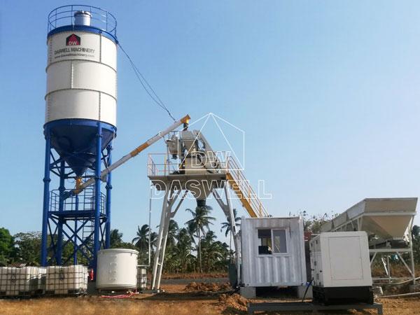 HZS25 mini concrete plant for sale